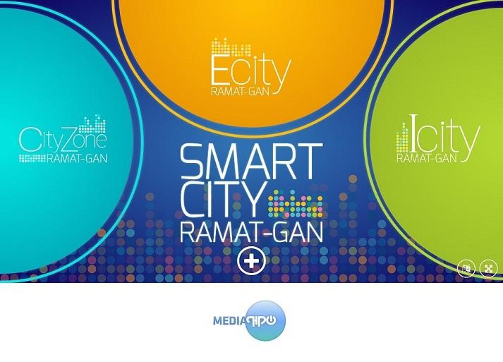 מיצג ערים חכמות של עירית רמת שהוצג בתעורכת ערים חכמות smart expo ברצלונה 2016